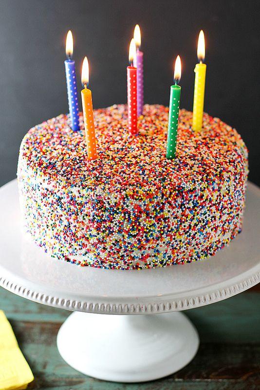 Vanilla Bean Birthday Cake with Vanilla Buttercream Frosting