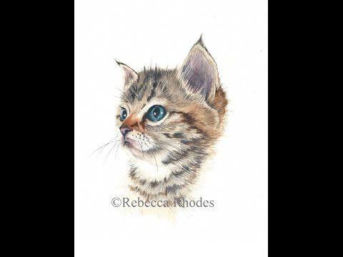 Watercolor Painting Tutorial - Kitten - YouTube