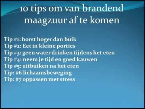 10 tips tegen brandend maagzuur