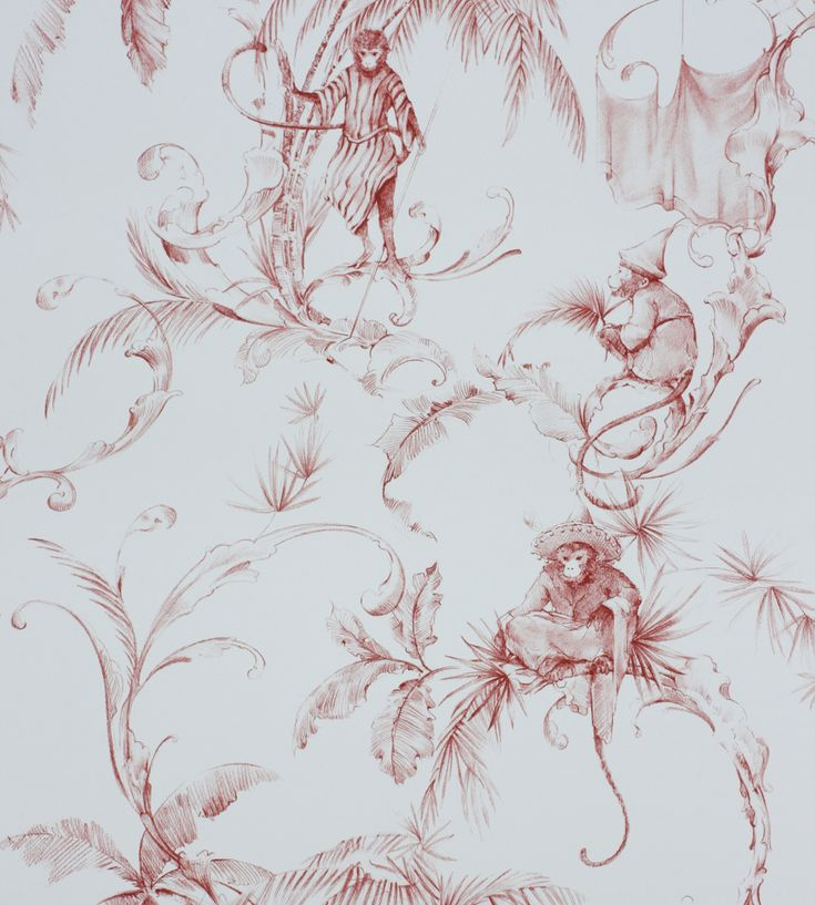 Barbary Toile Wallpaper by Nina Campbell | Jane Clayton