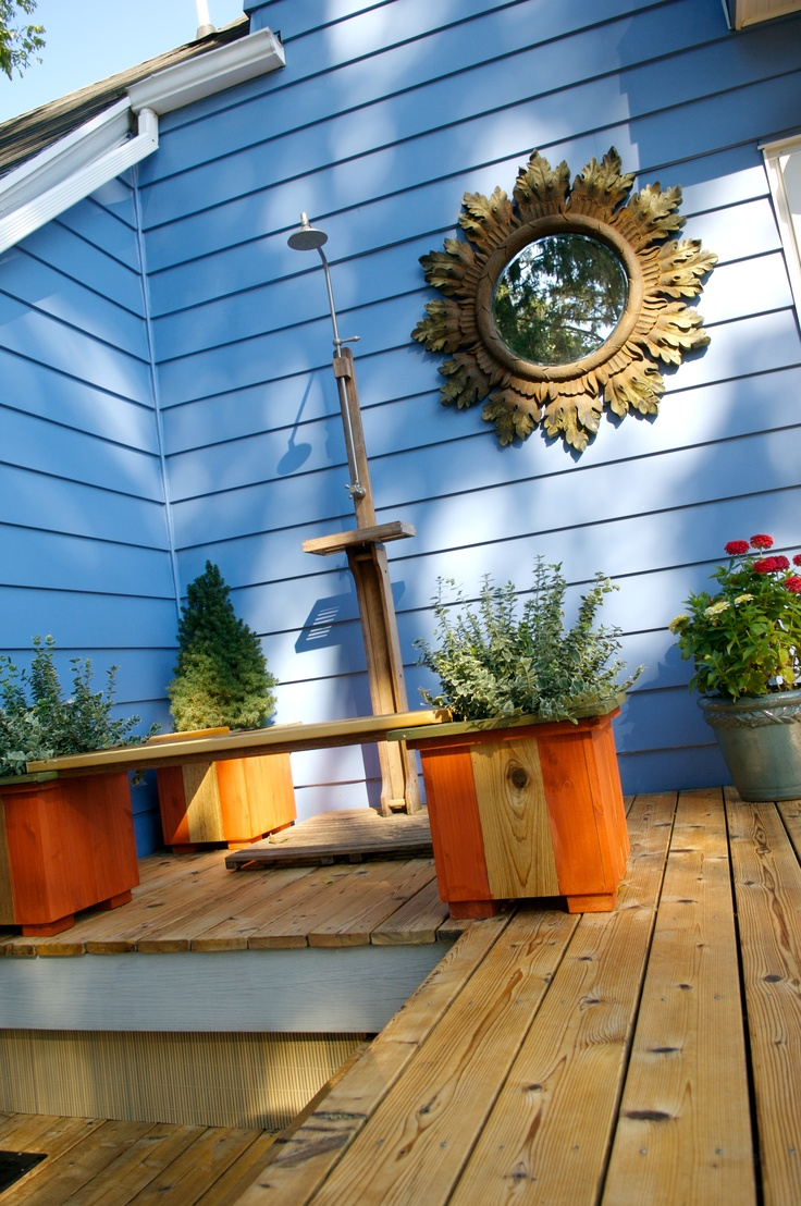 bench outdoor showers outdoor ideas seals the end giveaways planters
