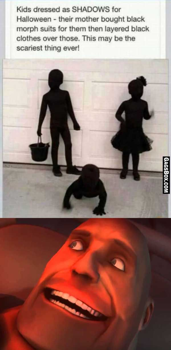 Darkest Yet Scariest Halloween Costume #funny
