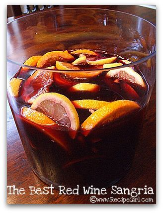 Sangria, I have to try this.  Looks really easy to make and gives it a festive flair.