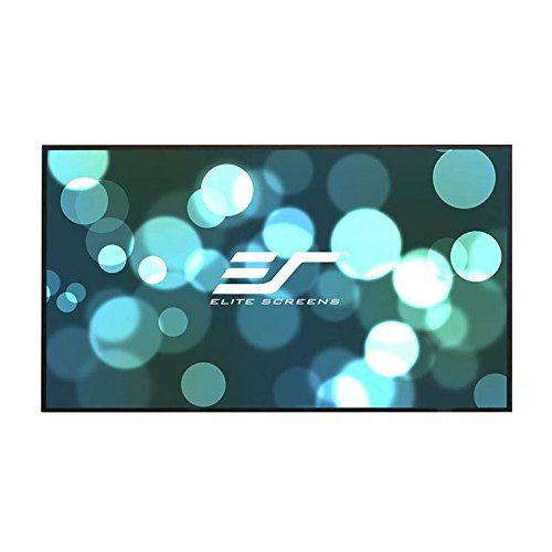 """Elite Screens Aeon, 120-inch 16:9, Grey Material Home Theater Fixed Frame EDGE FREE Projection Projector Screen, AR120H2. 120-inch Diagonal, 16:9 Aspect Ratio. View Size: 58.3"""" H x 104.1"""" W. Overall Size: 59.1"""" H x 104.9"""" W. Screen Material: CineGrey, 1.0 Gain. Multi-layer PVC, flat tensioned, lightly textured screen with 160 degree viewing angle. Designed for low contrast DLP and LCD projectors to enhance black levels while minimizing loss in color reproduction. Compatible with all…"""