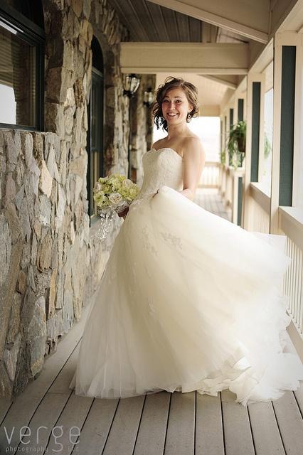 ... Pronovias. Gown is ivory lace applique over tulle pronovias gelinlik