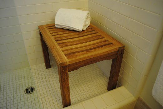 transfer chair shower best recliner reviews amazon.com: new grade a teak bench - sauna or steamroom stool: health & personal care ...