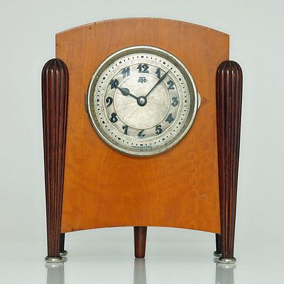 Extremely Rare 1920s French ART DECO ATO CLOCK Mantel Clock by LÉON HATOT,