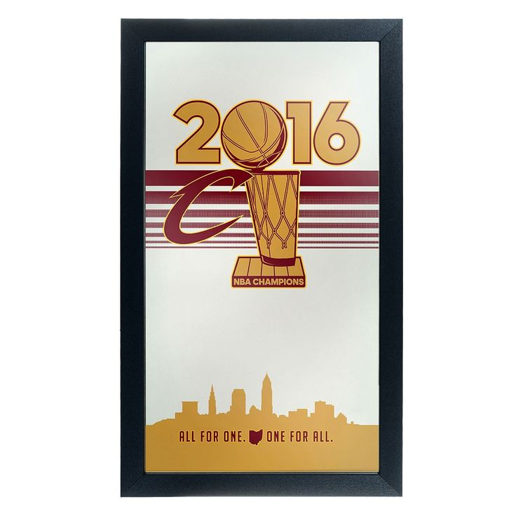 Cleveland Cavaliers 2016 NBA Champions Framed Logo Wall Art, Red