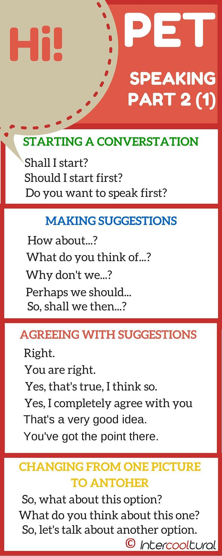 PET Speaking Phrases