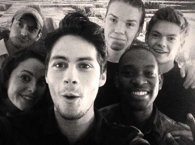 Maze runner. WHAT?!?! how did we get this?! I though he took it on his phone.....