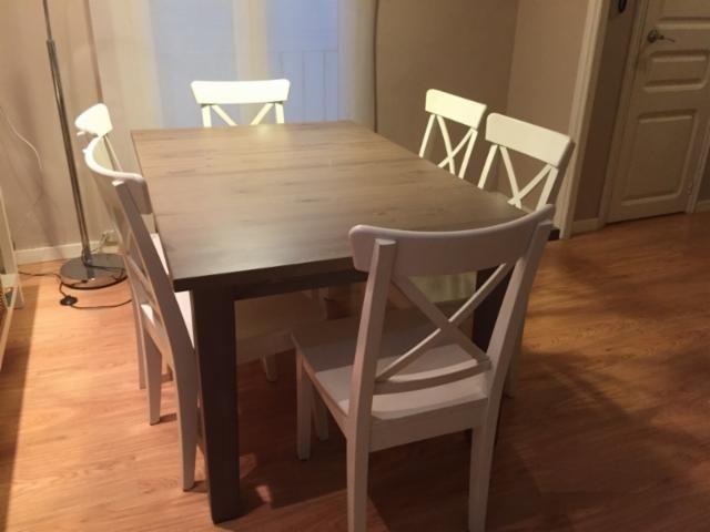 Mesa comedor con 6 Sillas IKEA