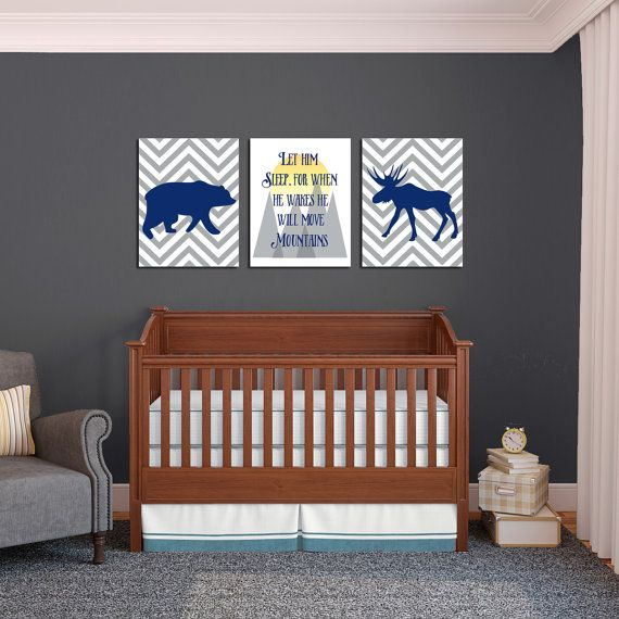 Hipster Nursery Prints Let Him Sleep He Will Move