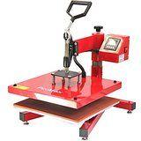 PixMax Trasferimento Pressa di Calore a Sublimazione Vinilico Macchina di stampa a calore, oscillante girevole, 38cm x 38cm