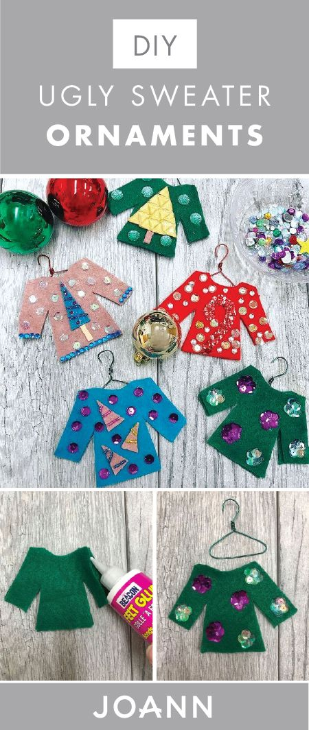 If you love adding a bit of character and charm to your Christmas tree then check out these DIY Ugly Sweater Ornaments from Jo-Ann are exactly what you're looking for. Plus, we love the idea of holiday party guests decorating their own!