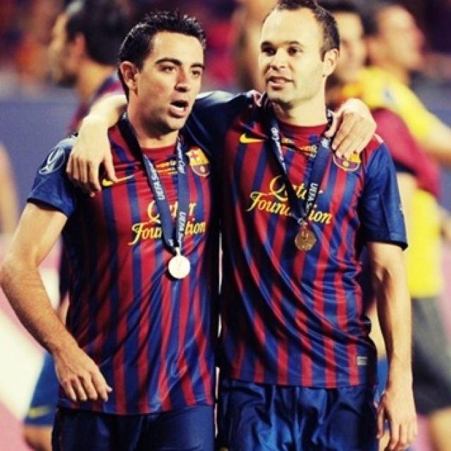 Xavi Hernandez & Andres Iniesta
