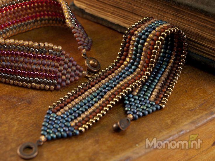 Bracelet Beading Pattern PDF Arrowood Herringbone by Monomint