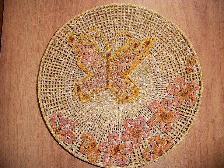 Тарелка-панно с бабочкой