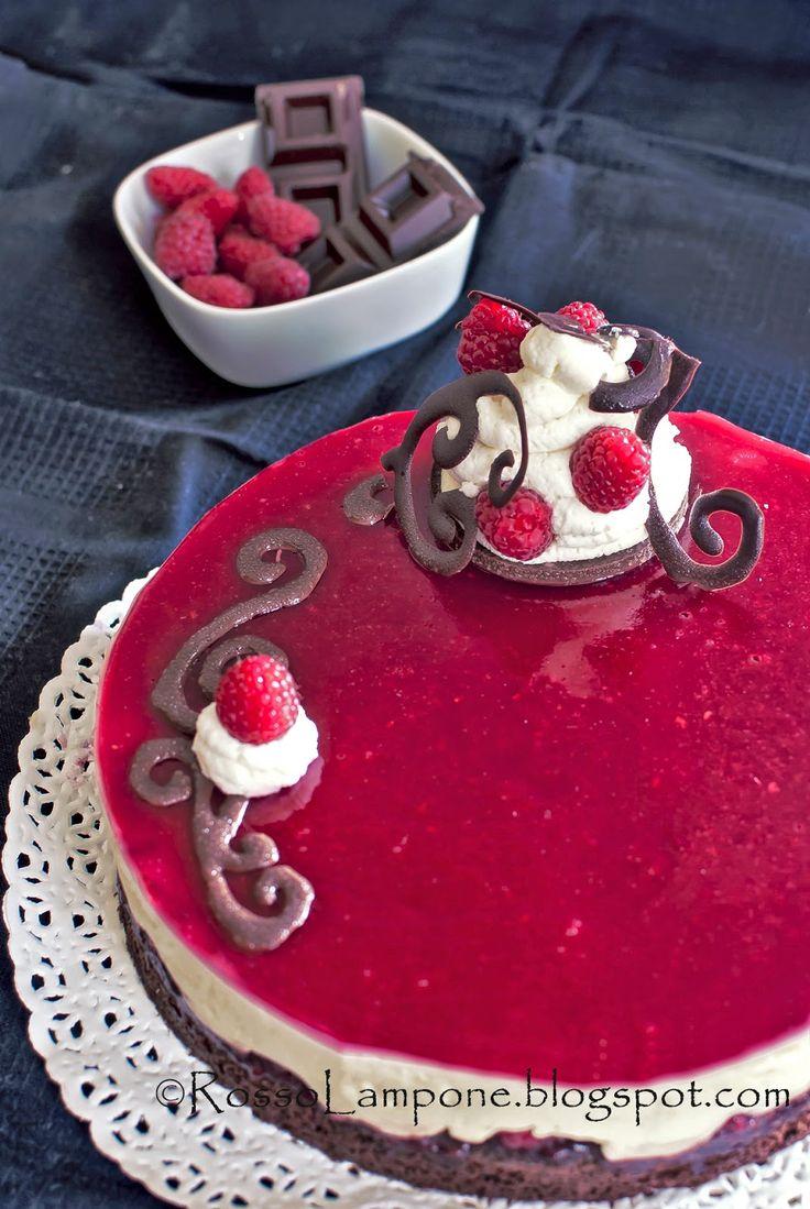 Bavarese al cioccolato bianco e brownies alla gelatina di lamponi