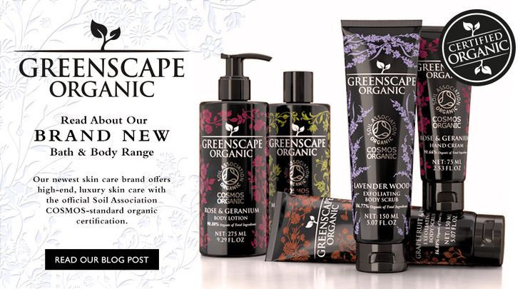 Greenscape Organic - Organically Certified Skin Care From The Somerset Toiletry Company