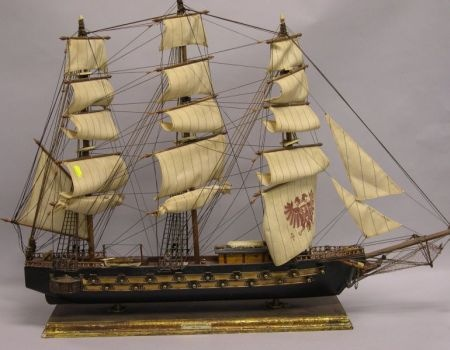 Replicas of early ships adorn many a Boston living room and study: Living Room