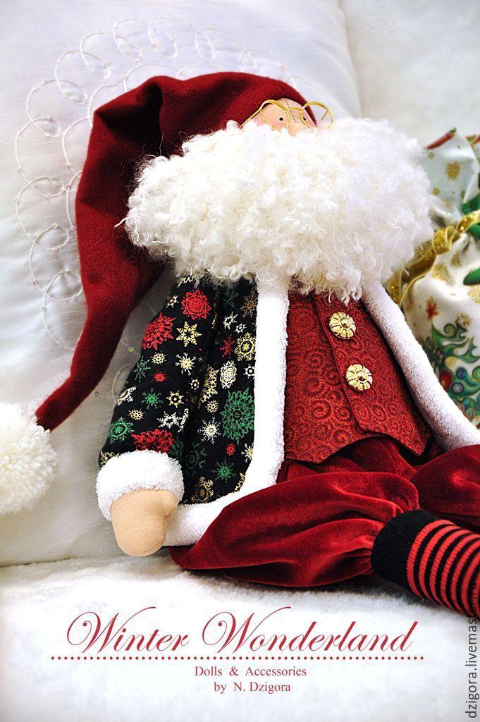 Купить С приветом из Лапландии! - бордовый, дед мороз, санта клаус, санта, санта тильда