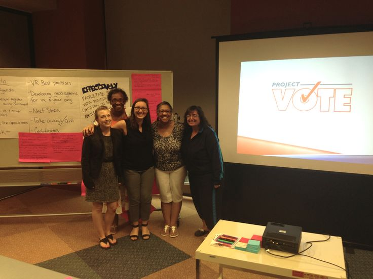 We've been having fun training folks on voter registration law and best practices at health benefit exchanges in Ohio this week.