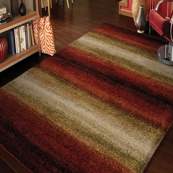 Carolina Weavers Grand Comfort Collection Tie In Red Area Rug (5u00273 X Part 92