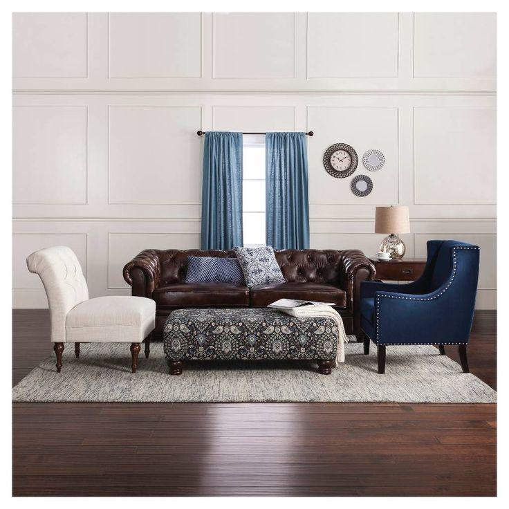 Keswick Tufted Leather Sofa - Abbyson Living. Image 4 of 4.