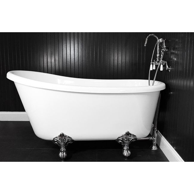 Extra Deep Clawfoot Tub. This 58 inch Swedish slipper style tub features an extra deep design  14 best Deep Soaking Tubs images on Pinterest Bathtubs