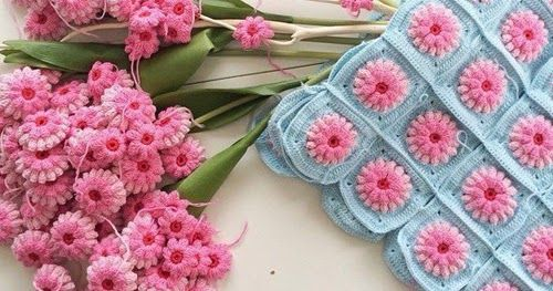 Wonderful Crochet Flower Granny Square    This crochet diagram is available for free...     Free Download:   Flower Granny Squares