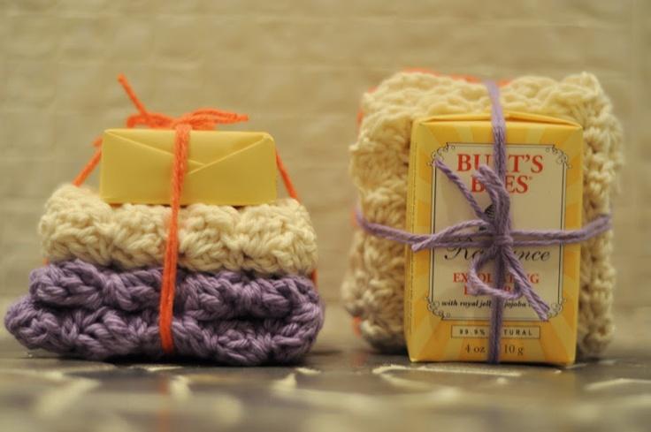 Christmas gifts!: Aesthetics Nests, Gifts Ideas, Spa Clothing, Gift Ideas, Crochet Gifts, Clothing Gifts, Spa Gifts, Handmade Soaps, Crochet Washcloth