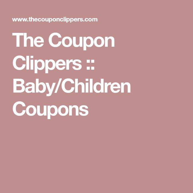 The Coupon Clippers :: Baby/Children Coupons