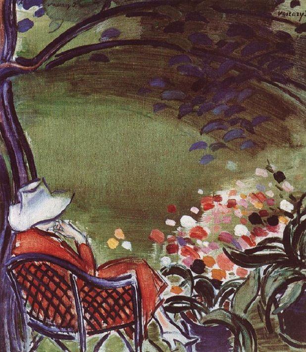 János Vaszary (Hungarian, 1867-1938): Woman Sitting in the Garden, c.1930