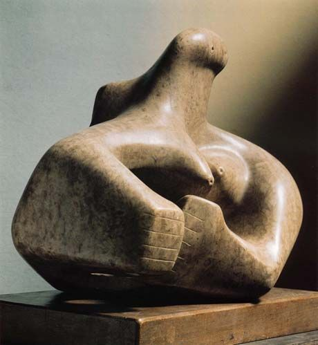 Henry Moore, Composition 1931LH 102  Cumberland alabaster  length 41.5cm  The Henry Moore Foundation: gift of Irina Moore 1977