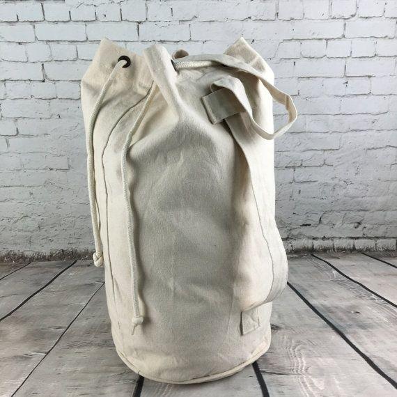 VERKOOP rugzak, plunjezak, Bagage zak, tas van de zeeman en gewone natuurlijke katoen canvas tas
