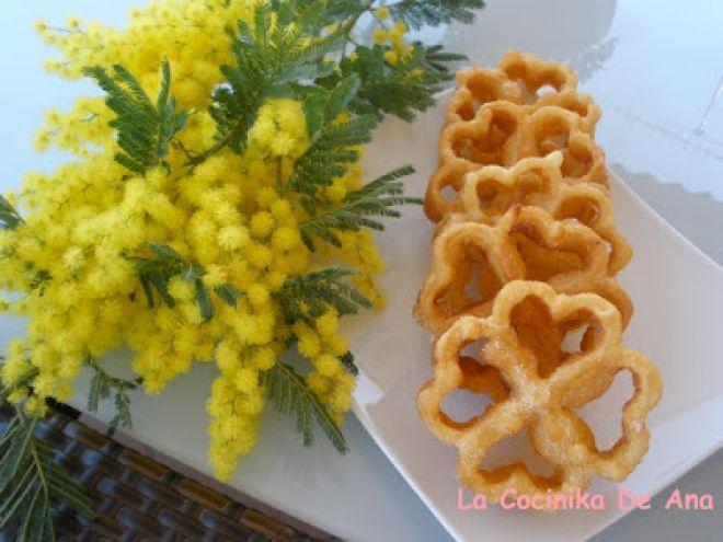 Receta Postre : Flores fritas típicas manchegas por La Cocinika De Ana