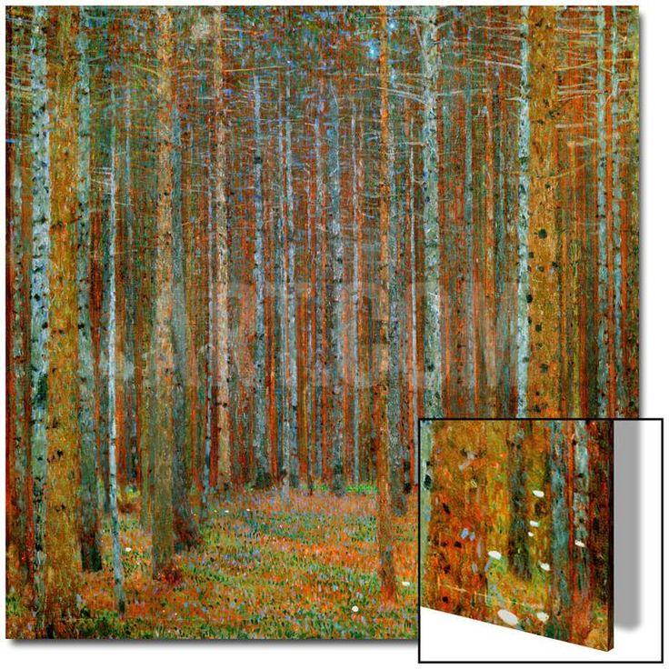 Tannenwald (Pine Forest), c.1902 Akrilik Sanatı by Gustav Klimt at Art.com