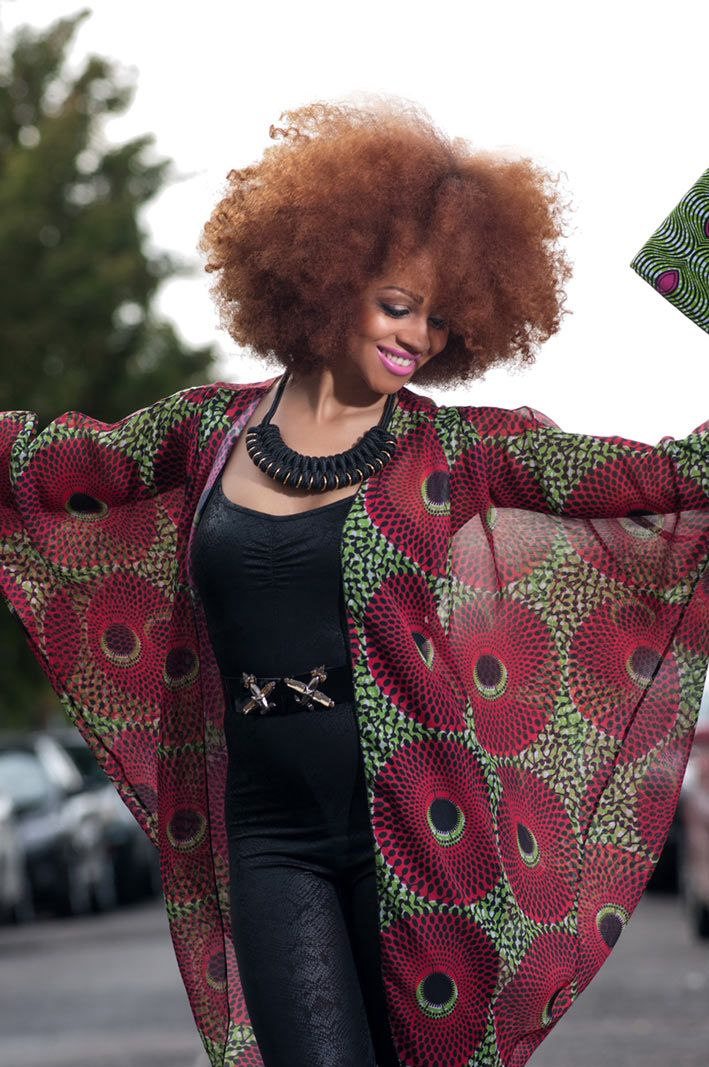 Stunning Tóté African floral print chiffon kimono. At long last African Print is now available in beautiful flowing chiffon. £30