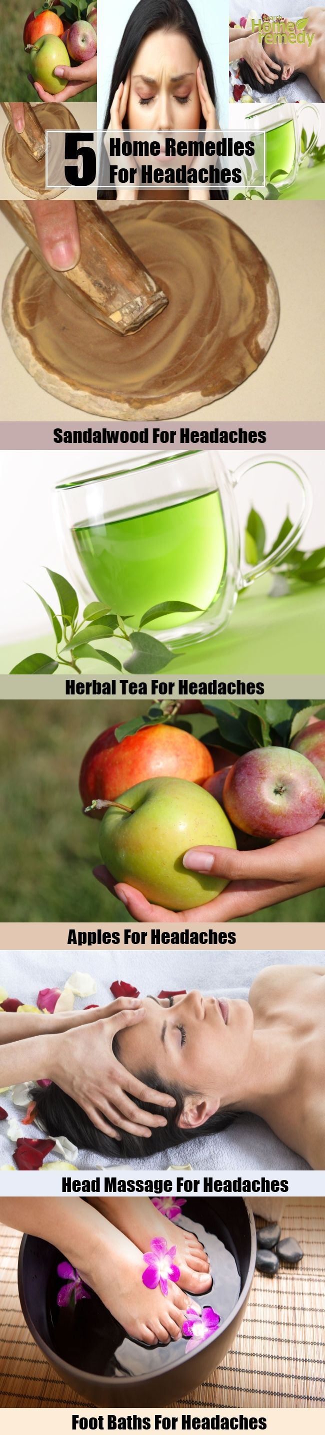 5 Home Remedies For Headaches