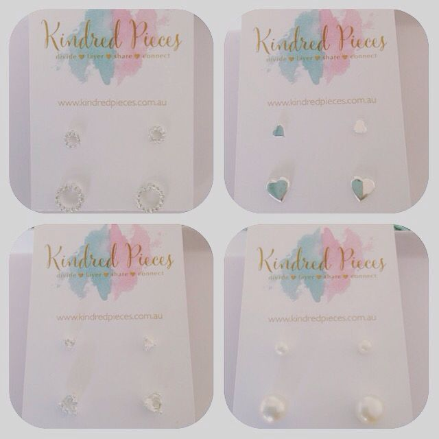 Mother daughter earring sets. Sterling silver. #kindredpieces
