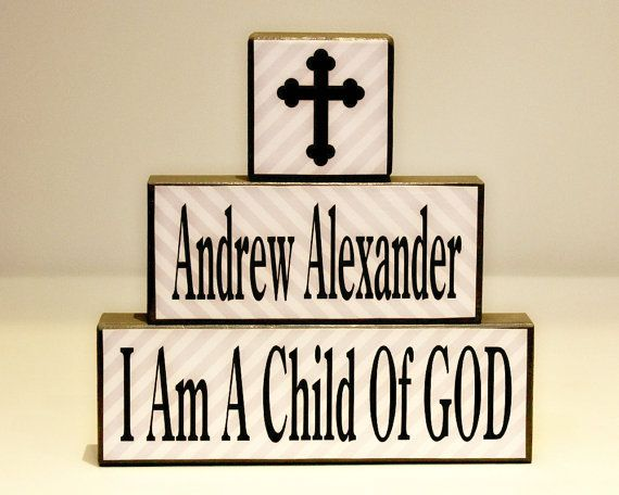 First Communion Gift - Personalized Baptism Gift from Godparents - I Am A Child Of God - Confirmation Gift - Christening Keepsake