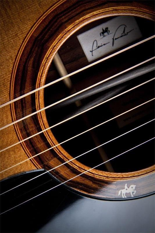 Acoustic guitar with carbon reinforcement #music #guitar.  I just love this picture.....