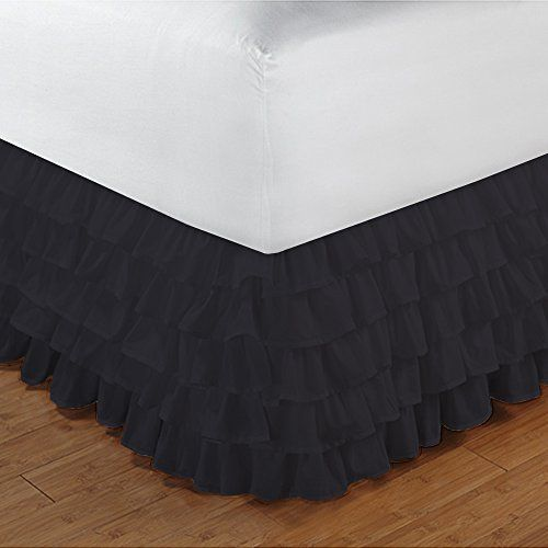 This item includes 1 Multi Ruffled Bed skirt Only. Dimensons 72Inches x 84Inches.The Bedskirt comes with split corners. * Colors may vary due to differences in monitor settings * LASTING PERFORMANCE: Our Top Selling Quality Bedding Products are made with the HIGHEST QUALITY FABRIC so you know it lasts! * LUXURY YOU CAN SEE AND FEEL: Create a welcoming environment and a restful feeling in the bedroom with this TOP QUALITY and AFFORDABLE Bedding Collection. You'll find yourself getting a restf