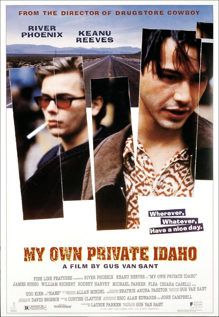 My Own Private Idaho poster artwork featuring River Phoenix and Keanu Reeves.