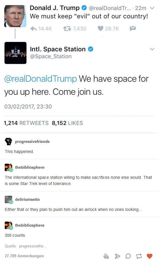 ISS willing to take one for the team