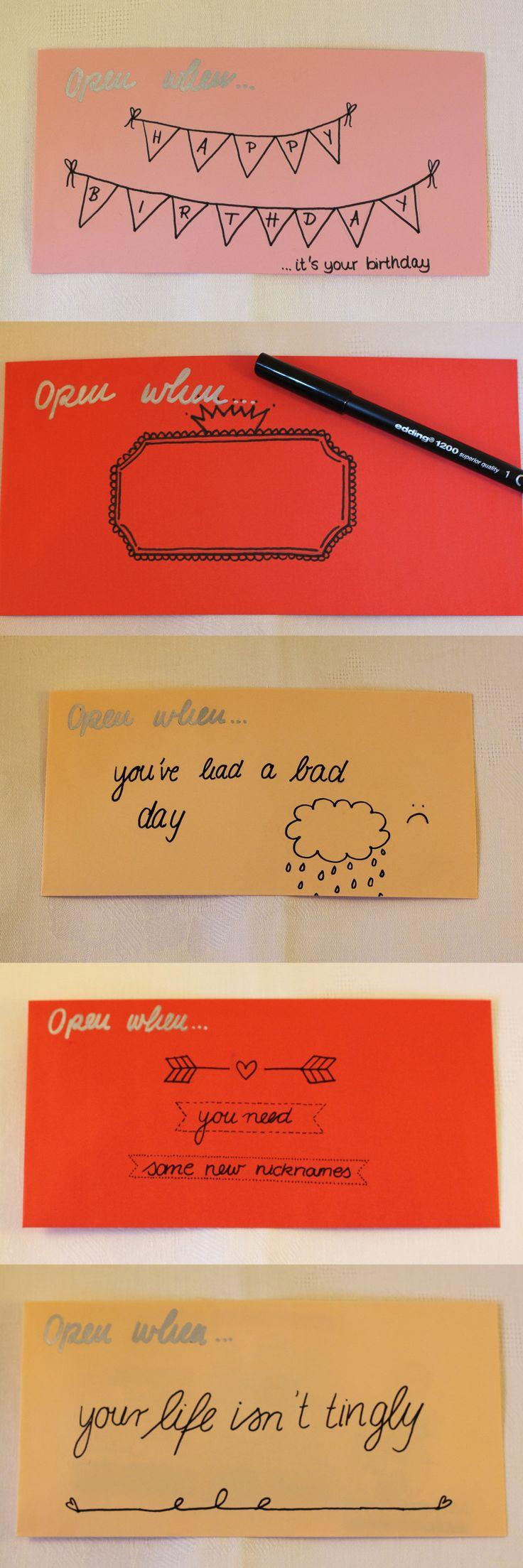 Briefe Für Emily : Die besten öffnen wenn briefe ideen auf pinterest