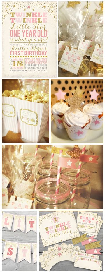 Twinkle Twinkle Little Star Printable Party Kit by PartyMonkey on Etsy. Click to see the entire kit: https://www.etsy.com/listing/261666737/twinkle-twinkle-little-star-birthday?ref=shop_home_active_2