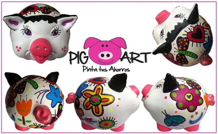No sabes qué regalarle a esa sobrina que tanto adoras??? Bueno en Alcancía Pig Art tenemos la solución!! Haz tu pedido ahora! #alcancía #piggy #art #bank #ahorros #save #money #color #happy