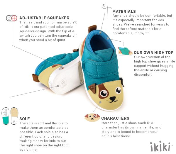 A squeaky shoe designed specifically for children.