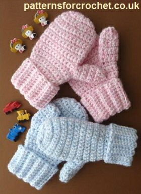Free crochet pattern children's mittens usa